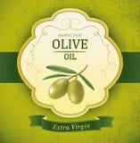 Dekorativ olivgrön filial. För etikett packe. Royaltyfria Foton