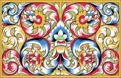 dekorativ ortodox modellvektor för fragment Arkivfoto