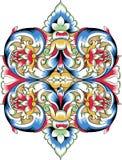 dekorativ ortodox modellvektor för fragment Arkivbilder