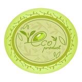 Dekorativ oval design för Eco naturproduktlogo Royaltyfri Foto