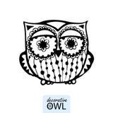 dekorativ owl Fotografering för Bildbyråer