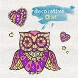 dekorativ owl Arkivbild