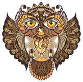 dekorativ owl Arkivfoto