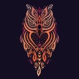 dekorativ owl etnisk modell Arkivbild