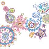 Dekorativ Paisley design med ljusa färger Royaltyfri Foto