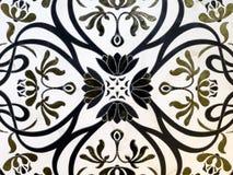 Dekorativ panel av naturlig marmor med modeller royaltyfria bilder