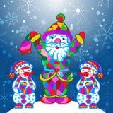 Dekorativ patternPrint för vintervektor Royaltyfria Bilder