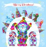 Dekorativ patternPrint för vintervektor stock illustrationer