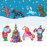 Dekorativ patternPrint för vintervektor royaltyfri illustrationer