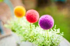 Dekorativ plast- blomkruka Royaltyfria Bilder