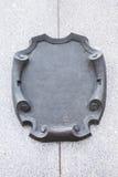 Dekorativ platta för metall arkivbilder