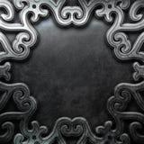 Dekorativ platta för silver Royaltyfri Fotografi