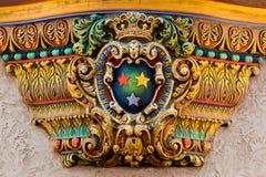 Dekorativ prydnad i den Louisville slotten Royaltyfria Bilder