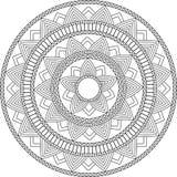 Dekorativ prydnad i etnisk orientalisk stil Rund modell Mandala för henna, Mehndi, tatuering, garnering vektor illustrationer