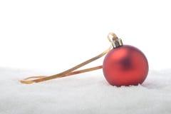 Dekorativ röd boll Royaltyfri Fotografi