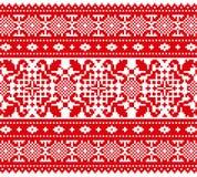 Dekorativ röd prydnad Arkivbilder