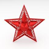 dekorativ röd stjärna Fotografering för Bildbyråer