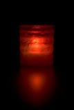 Dekorativ rött ljus Arkivbilder