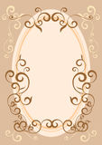 dekorativ ram stock illustrationer