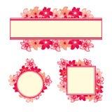 Dekorativ ram för blomma Arkivfoton