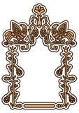 Dekorativ ram för gammal ryss vektor illustrationer