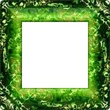 Dekorativ ram för grön fractal med rundade hörn Arkivbild