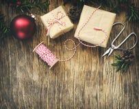dekorativ ram för jul Arkivbild