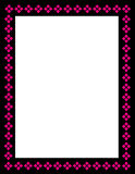 dekorativ ram för kant stock illustrationer