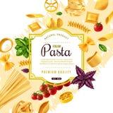 Dekorativ ram för pasta Vektor Illustrationer