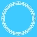 Dekorativ ram för vitt rep Royaltyfri Bild