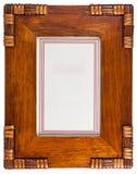 dekorativ ram isolerat vitt trä för foto Royaltyfri Foto