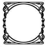 Dekorativ ram med jugendstilprydnaden Arkivfoton