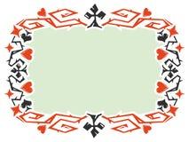 Dekorativ ram med kortdräkter Arkivbild