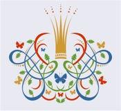 Dekorativ ram med kronan Royaltyfri Bild