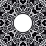 Dekorativ ram med stället för text Arkivfoto