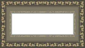 Dekorativ ram med tappning, elegant, blom-, klassikern och styl Royaltyfri Fotografi