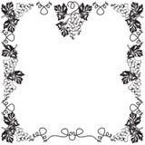 Dekorativ ram, ram för den svartvita texten Royaltyfria Foton