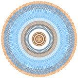 Dekorativ rambakgrund för rund vektor Royaltyfri Foto