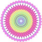 Dekorativ rambakgrund för rund vektor Arkivfoton