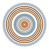 Dekorativ rambakgrund för rund vektor Fotografering för Bildbyråer