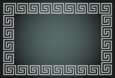 dekorativ ramgrek royaltyfri illustrationer