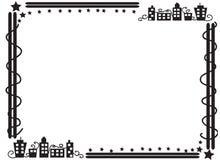 Dekorativ ramgräns av byggnader Royaltyfri Fotografi