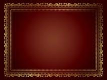dekorativ ramguld Arkivbild
