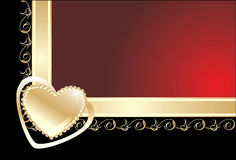 dekorativ ramhjärta Royaltyfria Bilder