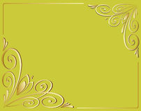 Dekorativ ramkaligraficheskih för vektor Arkivbild