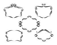 Dekorativ ramkaligraficheskih för vektor Royaltyfri Bild