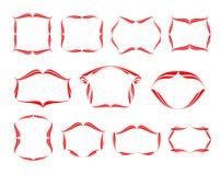 Dekorativ ramkaligraficheskih för vektor Arkivbilder
