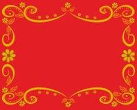 dekorativ rammodell Royaltyfria Bilder