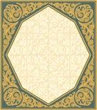 dekorativ ramtappning Arkivbild