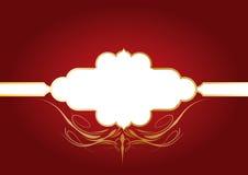 dekorativ red för bakgrund royaltyfri illustrationer